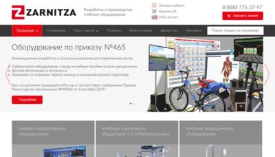 What Zarnitza.ru website looked like in 2020 (1 year ago)