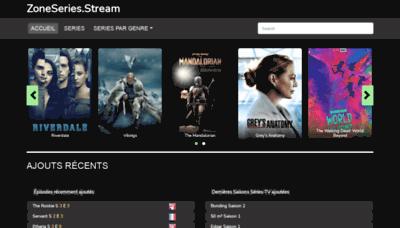 What Zoneseries.stream website looks like in 2021