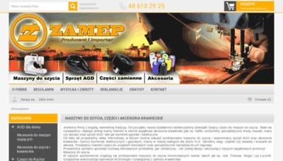 What Zamep.pl website looks like in 2021