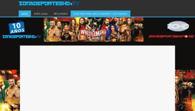 What Zonadeporteshd.tv website looks like in 2021