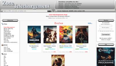 What Zone-telechargement.ninja website looks like in 2021